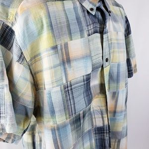 Men's Clearwater Outfitters Madras Plaid Shirt Xl